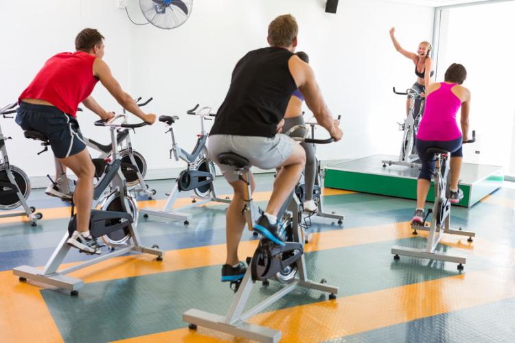 Gym Workout Using Exercise Bikes
