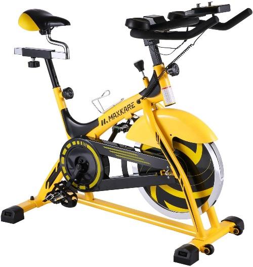 MaxKare Stationary Bike Belt Drive Indoor Cycling Bike